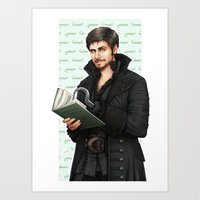 captain hook Art Prints featuring Hook by Alatherna