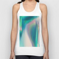 glitch Tank Tops featuring Pacifica glitch by La Señora