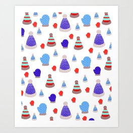 Mittens and Hats Art Print