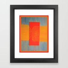 Meeting Behind the Wall of Time Framed Art Print