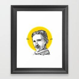 St. Tesla Framed Art Print