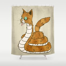 Cat Snake Shower Curtain