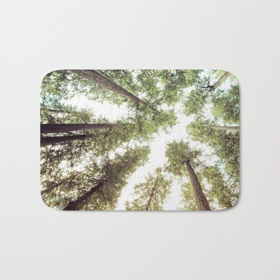 Green Forest Sky Trees Bath Mat