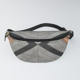 Urban Tribal Pattern No.2 - Concrete and Wood Fanny Pack