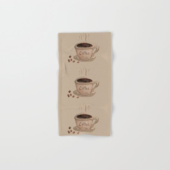 Coffee Please Hand & Bath Towel