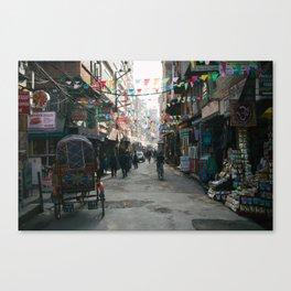 Kathmandu Street Canvas Print