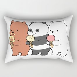 Baby Bears Eating Some Ice Cream Rectangular Pillow