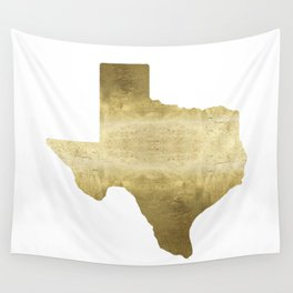 texas gold foil print state map Wall Tapestry