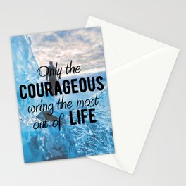 Motivational - Be courageous - Motivation Stationery Cards