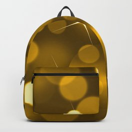 Elegant gold yellow abstract gradient bokeh Backpack
