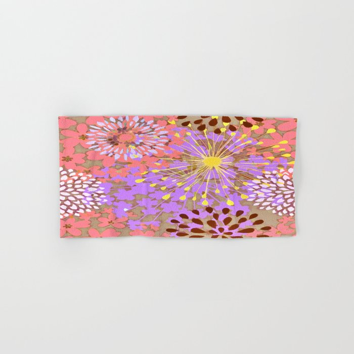 Bright Floral Explosion Abstract Hand & Bath Towel