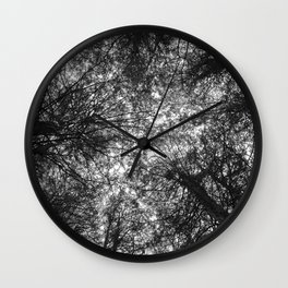 The Dark Forest Path Wall Clock