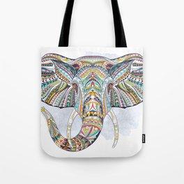 Colorful Ethnic Elephant Tote Bag