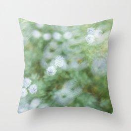 Flowers & Swirl Throw Pillow