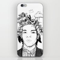 basquiat iPhone & iPod Skins featuring Basquiat by offthefaceoftheearth