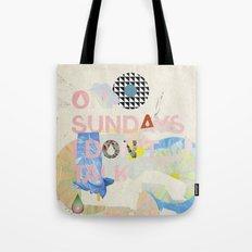ON SUNDAYS I DON'T TALK Tote Bag