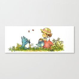 Fan art of a Ghibli Tea Party! Canvas Print