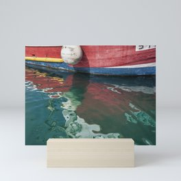 The Harbour Series - Boat and Reflections Mini Art Print