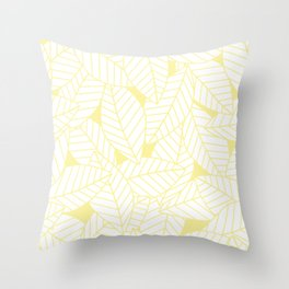 Leaves in Daisy Throw Pillow