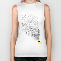 Typography and  the Black Hole Biker Tank