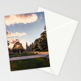 Photograph of Sunset Over the Rosenborg Castle in Copenhagen Stationery Cards