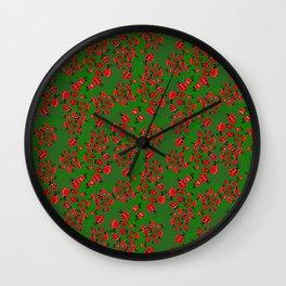 Ladybug in green Wall Clock