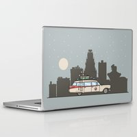 ghostbusters Laptop & iPad Skins featuring Ghostbusters Ecto-1 by M. Gulin