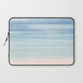 Watercolor Neck Gaiter Watercolor Blues Neck Gator Laptop Sleeve