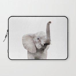 Baby Elephant Portrait Laptop Sleeve