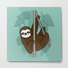 Kawaii sloth Metal Print