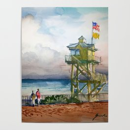 At the Beach Poster