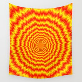 Big Bang in Red and Yellow Wall Tapestry