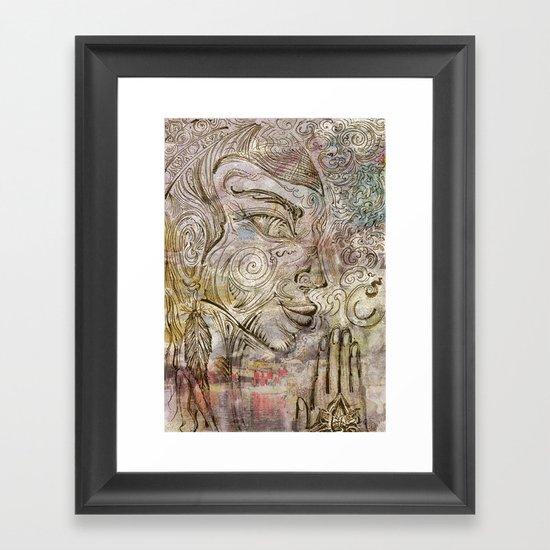 Reflection on  'Second Hand Flood Newz' Framed Art Print