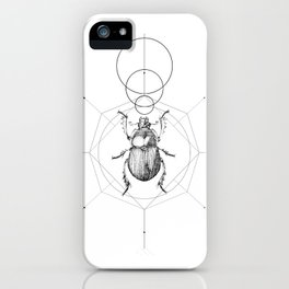 Dots, Lines & Beetle iPhone Case