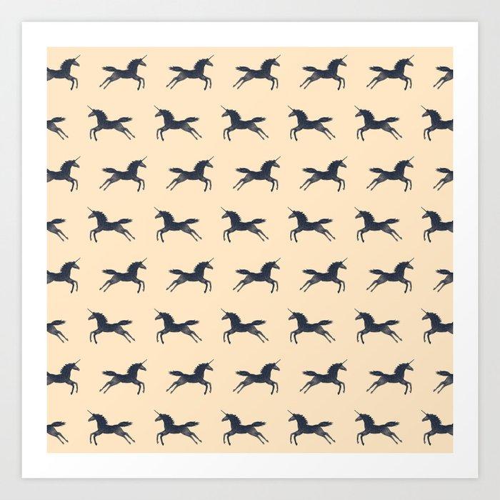 Unicorns Are Real (Pattern) Art Print