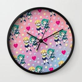 Sailor Uranus and Neptune Pattern Wall Clock