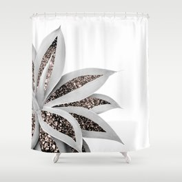 Agave Finesse Glitter Glam #1 #tropical #decor #art #society6 Shower Curtain