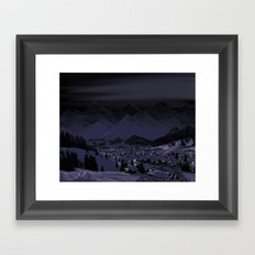 Night without stars Framed Art Print