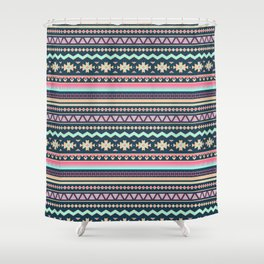 Colorful Aztec Tribal Pattern Shower Curtain