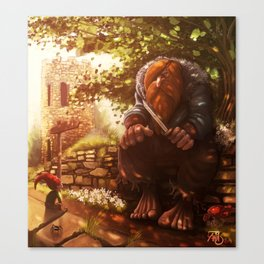 The troll and the gnome Canvas Print