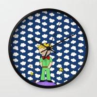 le petit prince Wall Clocks featuring Le petit prince by EnelBosqueEncantado