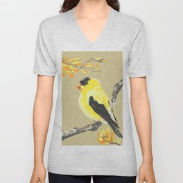 Yellow Finch Unisex V-Neck