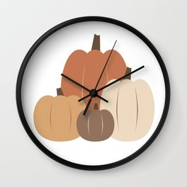 Fall Pumpkins Wall Clock