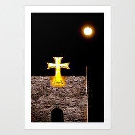 The Full Moon and the Maltese Cross Art Print
