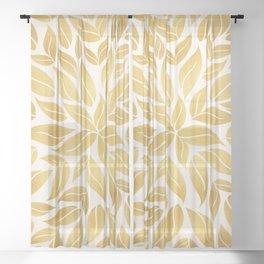 Golden Leaf Mandala Sheer Curtain