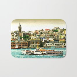 Istanbul city Bath Mat
