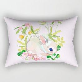 springtime bunny Rectangular Pillow