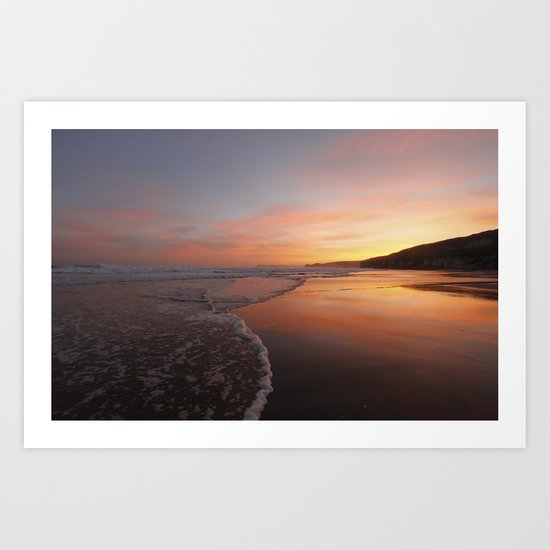 Last light at Dusk Art Print