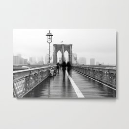 Brooklyn Bridge Walk Metal Print