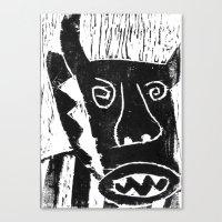 bull Canvas Prints featuring Bull by Hadar Geva
